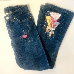 Disney Jeans with Embroidered Princesses